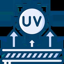 99.9% UV Light Rejection
